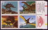 USA Prehistoric Animals 4v (block) SG2407/2410 - Francobolli
