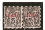 TIMBRES DE 1877-98   Avec Surcharge En Piastres  N° 4   Oblitéré  Paire - Used Stamps