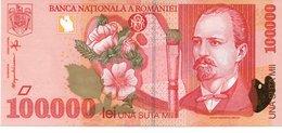 100000 LEI 1998 AUNC  Banknote Romania - Roumanie