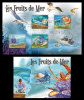 CENTRAL AFRICA 2011 - Seafood, Crustaceans, Molluscs M/S + S/S - Mi 2973-6 + B707 - Schaaldieren