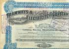 Belgique:Action:Tramways & Electricité De Constantinople.Illustration D\\'un Tram. - Transports