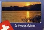 Schweiz - Suisse - Abendstimmund Coucher Du Soleil Sunset - Viaggiata - Formato Grande - Non Classificati