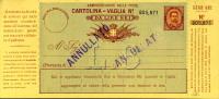 INTERO REGNO UMBERTO I CARTOLINA VAGLIA 6 L 1893 - 1878-00 Umberto I