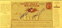 INTERO REGNO UMBERTO I CARTOLINA VAGLIA 7 L 1893 - 1878-00 Umberto I