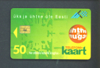 ESTONIA  -  Chip Phonecard As Scan - Estonia