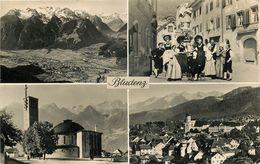 Autriche - Vorarlberg - Bludenz - Multivues - Semi Moderne Petit Format - état - Bludenz