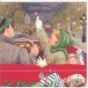 Carte à Système. Voiture Décapotable, Cadeaux, Enfant, étoile, Policier, Réverbères, Feu Rouge - Neujahr