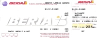 Boarding Pass - Iberia - IB 353 - Alicante-Madrid - 09DEC04 - Instapkaart