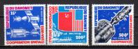 Dahomey 1975 Space Apollo-Soyuz Set Of 3 MNH - Space