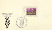 NAVIDAD 1986   TARJETA 1ER DIA DE EMISION OHL - Uruguay