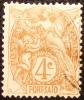 1902 Port Saïd  Blanc 4 Centimes  YT 23 Pblitéré Côte Dallay 1,50 € - Zonder Classificatie