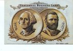 CARTOLINA - RIPRODUZIONE DI UNA BUSINESS CARD USATA DURANTE IL CENTENARIO DELLE NAZIONI DEL 1876 IN U.S.A. - Monete (rappresentazioni)