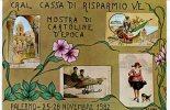CARTOLINA DEL C.R.A.L. CASSA DI RISPARMIO V.E. PER LA MOSTRA DI CARTOLINE D'EPOCA - PALERMO NOVEMBRE 1982 - Bourses & Salons De Collections
