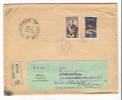 MONACO  /  Enveloppe Envoyée En Recommandé, Avec 2 Beaux Timbres + Cachet Du  29  MAI  1956