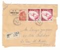 MONACO  /  Demie-Enveloppe Envoyée En Recommandé, Avec 3 Beaux Timbres + Cachet Du  2  FEVRIER  1953