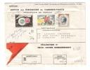 MONACO  /  Enveloppe Envoyée En Recommandé, Avec 3 Beaux Timbres + Cachet Du  19  JUIN  1961