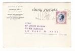 MONACO  /  Carte-lettre De La POSTE MONEGASQUE , Envoyée Avec 1 Beau Timbre + Cachet De RADIO MONTE-CARLO , En 1957