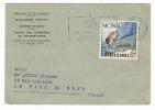MONACO  /  Carte-lettre De La POSTE MONEGASQUE + 1 Beau Timbre + Cachet COURONNE DU BLASON MEDITERRANEEN , En 1954