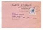 MONACO  /  Carte-lettre De La POSTE MONEGASQUE + 1 Beau Timbre + Cachet GRAND PRIX AUTOMOBILE , En 1958
