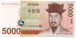 KOREA SOUTH P-55 UNC 5 000 WON ND (2006) 1 - Corée Du Sud