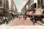 37 TOURS LA RUE NATIONALE ANIMEE COLORISEE  CIRCULEE 1922 - Tours