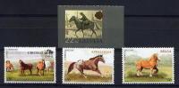URUGUAY  2006 ** Y&T 2274/2276/2277 Chevaux/ Criollo / Appaloosa / Belga + Lituanie - Cheval De Poste - Mail Post Horse - Uruguay