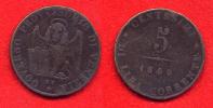 ITALIE - ITALIA - ITALY - VENISE - VENEZIA - GOVERNO PROVVISORIO -  5 CENTESIMI 1849 - Regional Coins