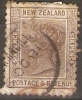 NEW ZEALAND - 1882 ISSUE 6d BROWN USED ON PAPER - Used Stamps