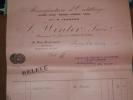 Factures) Manufacture D'outillage ( Aciers - Limes - Meubles - Méches - Scies ( M. Fernand - J. Winter Succ ) Paris - Autres