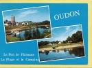 44 OUDON   2   VUES   PORT DE PLAISANCE  LA TOUR ET LA VILLE  LE  CAMPING ET LA PLAGE - Oudon