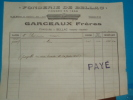 Factures) BELLAC : Fonderie De Bellac Fondée En 1856 ( GRACEAUX  FRERES ) - Autres