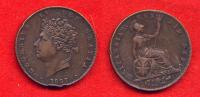 GRANDE BRETAGNE - GREAT BRITAIN - UNITED KINGDOM - GEORGE IV - HALF PENNY 1827 - 1816-1901 : Frappes XIX° S.