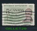 CANADA STAMP - RED RIVER SETTLEMENT - LORD SELKIRK - SCOTT No 397, 0,05ç, 1962 - USED - - 1952-.... Règne D'Elizabeth II
