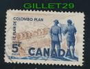 CANADA STAMP - COLOMBO PLAN - POWER PLANT - SCOTT No 394. 0.05ç, 1961 - USED - - 1952-.... Règne D'Elizabeth II