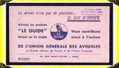 Le Guide  -  Buvard - Fédération Des Aveugles à Rouen  -  76 Seine Maritime - S