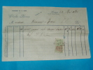 Factures) Limoges - H.viennes ( étab : Charles Maury ) Fonderie De La Gare - Autres