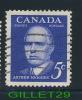 CANADA STAMP - PRIME MINISTER - ARTHUR MEIGHEN - SCOTT No 393, 0.05ç, 1961, ULTRAMARINE, USED - - 1952-.... Règne D'Elizabeth II