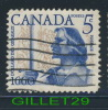 CANADA STAMP - BATTLE OF LONG SAULT - DOLLARD DES ORMEAUX - SCOTT No 390, 0,05ç, 1960 - USED - - 1952-.... Reign Of Elizabeth II