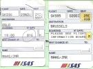 Boarding Pass - SAS - SK596/SK595 - Brussels-Oslo FBU-Brussels - 29NOV-02DEC96 - Instapkaart