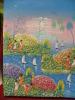 ART,FRANCE COLONIE,SAINT DOMINGUE EN FEVRIER 1997,REPUBLIQUE DOMINICAINE,HISPANIOLA,IL E,PEINTURE R JOHN,PARADIS - Oils