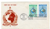 64321)lettera F.d.c. Filippina Con 2 Valori + Annullo - Philippines