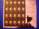 United States, USA, 2009 Edgar Allan Poe, Sheetlet Of 20, - Writers
