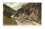 Cp, 66, Ollioules, Les Gorges, La Route, Le Torrent Du D'Estel, écrite - Autres Communes