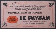 BUVARD GRAINES LE PAYSAN LEGUMES ET FLEURS - Agriculture