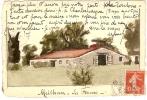 MEILHAN SUR GARONNE - LOT ET GARONNE - LA FERME - CARTE PEINTE A LA MAIN - UNIQUE - AQUARELLE - Meilhan Sur Garonne