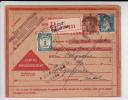 1932 - SEMEUSE + PASTEUR PERFORES - CARTE LETTRE RECO CONTRE REMBOURSEMENT De TOULOUSE Pour SAIGNES (CANTAL) - TAXE - France