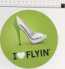 Ade073 Adesivi, Stickers, Autocollant Air Baltic I Love Flyin´ Airline Aereo Aeroplane, Avion, Scarpe, Shoes, Chaussures - Stickers