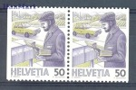 Switzerland 1987 Mi No.1343DlDr Letters Postbox Cars Postman - Automobili