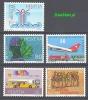 Switzerland 1986 Mi No.1335-1339 Airplans Cars Education Painting Graphics - Aerei