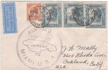 Jamaica - 1930 - Pan. Am. First Flight To Miami, Florida, Scott 62, 3 X 92 - 1-12-30 - Elicotteri